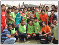 Football Tournament held by Aptech Qatar